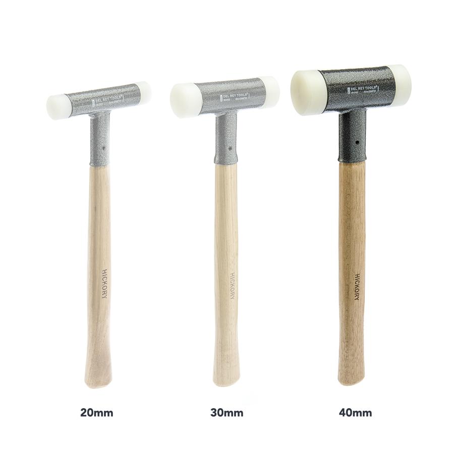 Dead blow hammer size comparison.