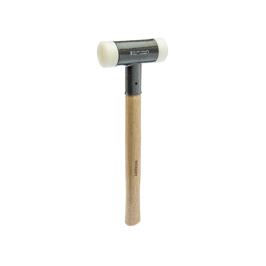 Del Rey Nylon Dead Blow Hammer with wooden handle.