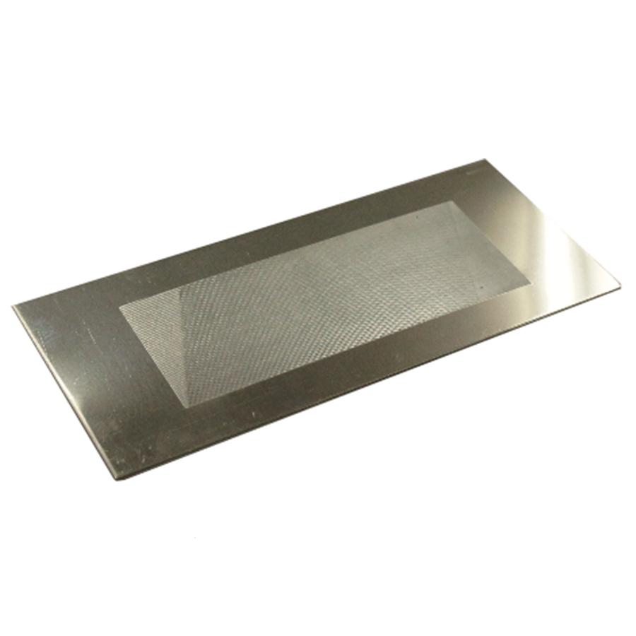 Stainless steel sanding card, medium grit.