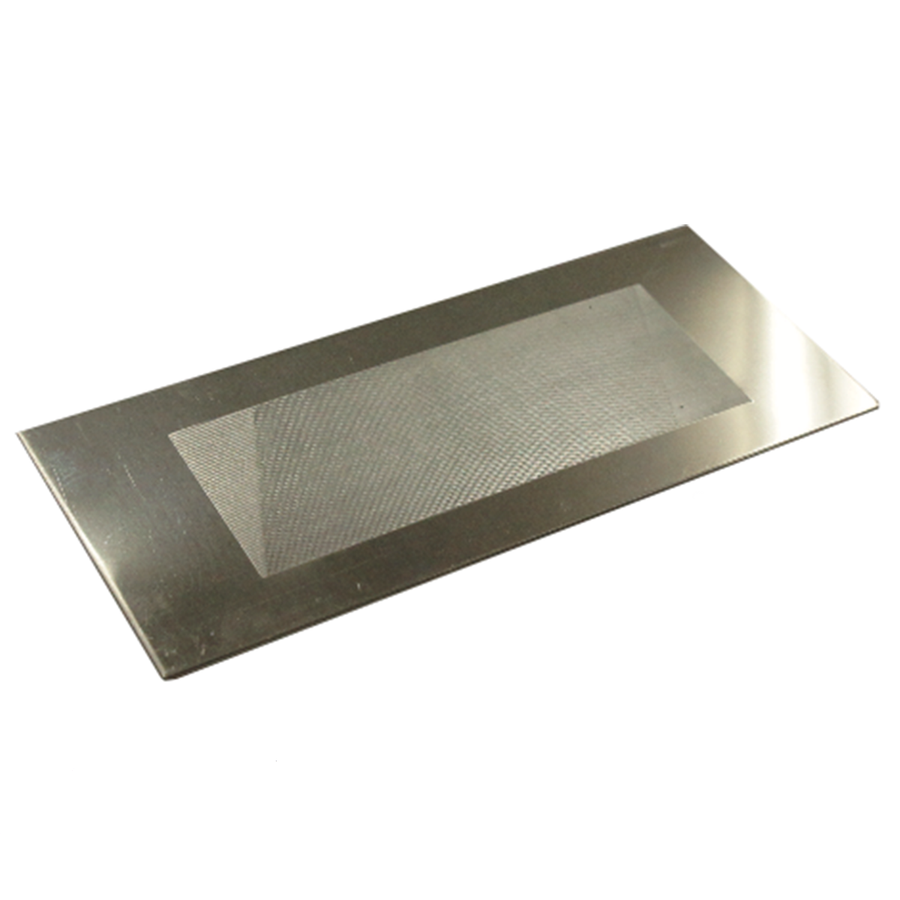 Stainless steel sanding card, fine grit.