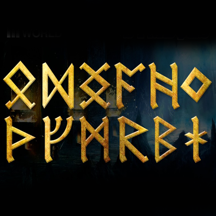 Included dwarven symbols.