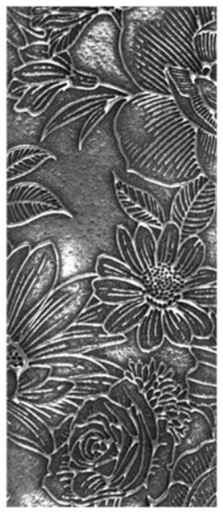 Example of Grandma's Garden in silver clay.