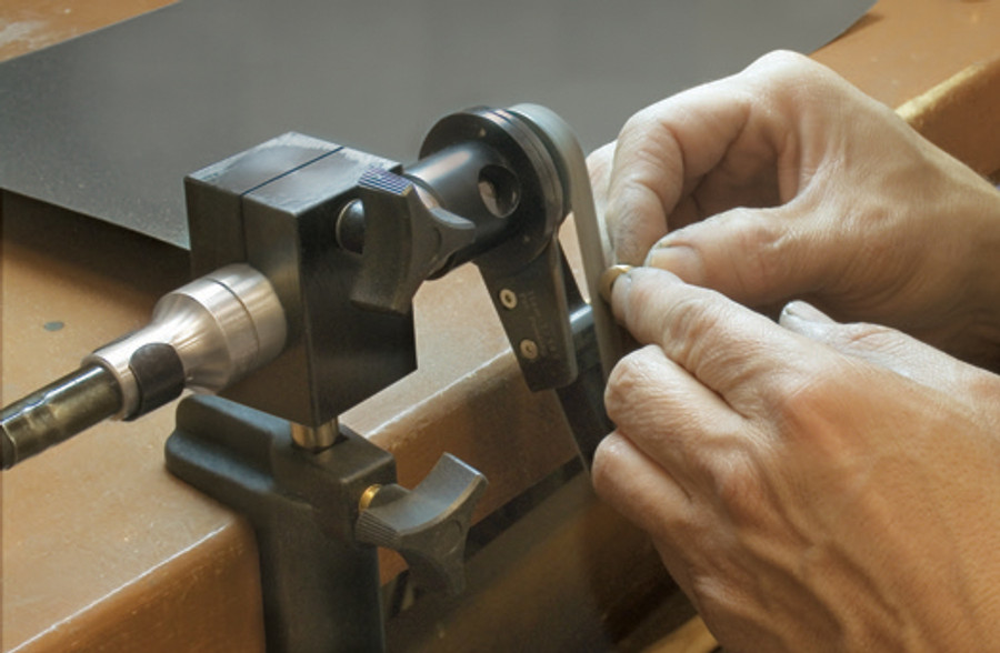 MAHH-30 Handpiece holder - here in use with the optional Belt Sander.