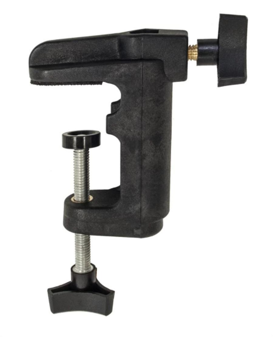 Bench clamp for motor hanger