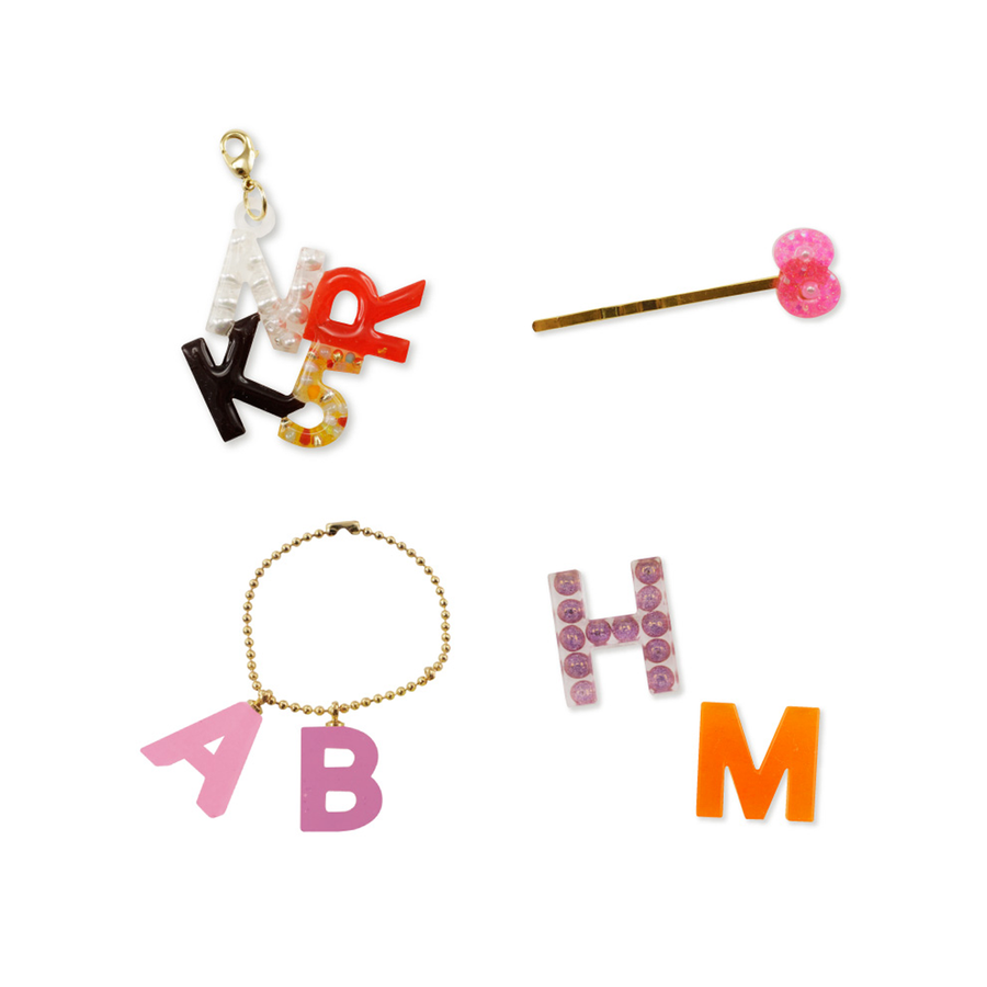 Moulded alphabet examples