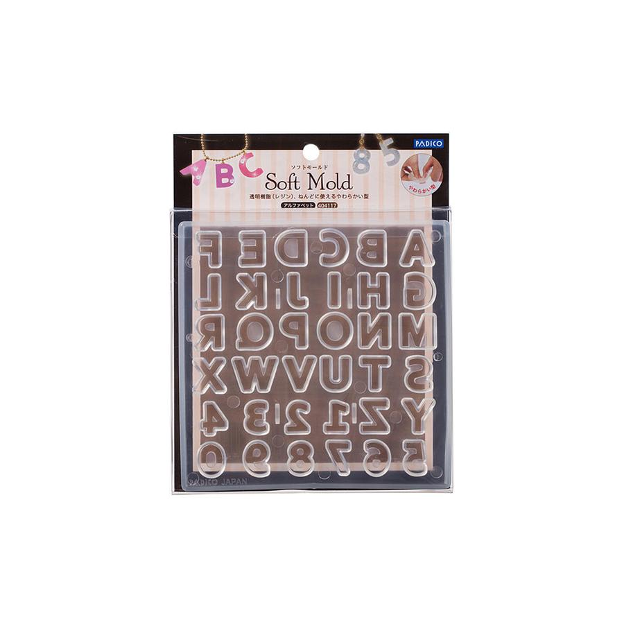 Padico Resin Mould Soft - Alphabet Straight