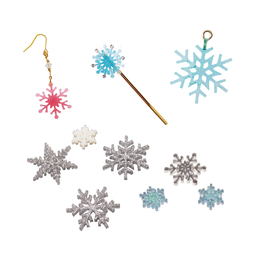 Moulded snow crystal examples