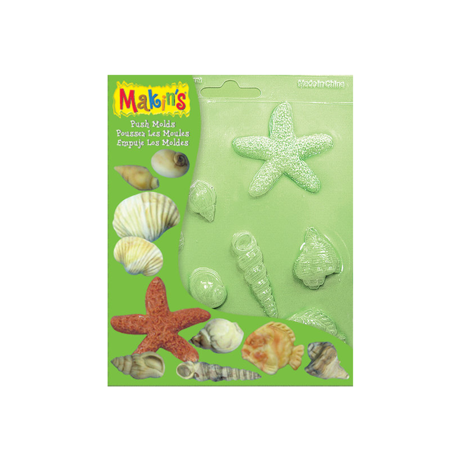 Makins Push Mold Seashells