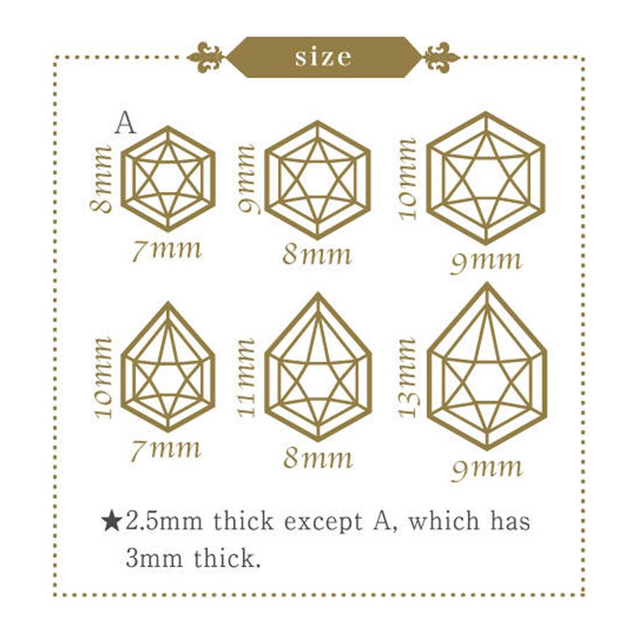 Moulded part dimensions.
