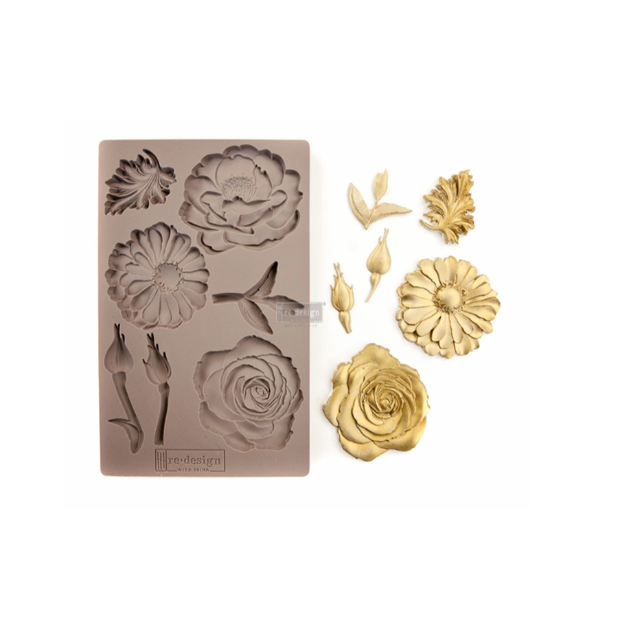 """Re•Design Decor Mould by Prima - In The Garden 5x8"""" With examples"""