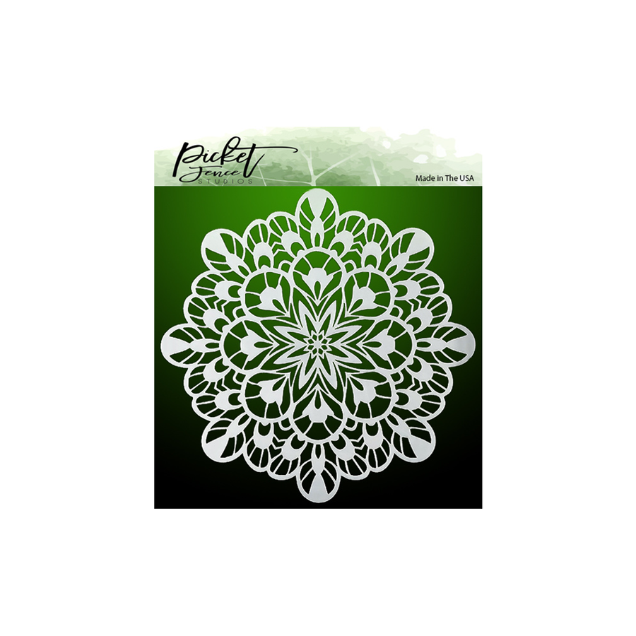 Fancy Kaleidoscope Stencil by Picket Fence