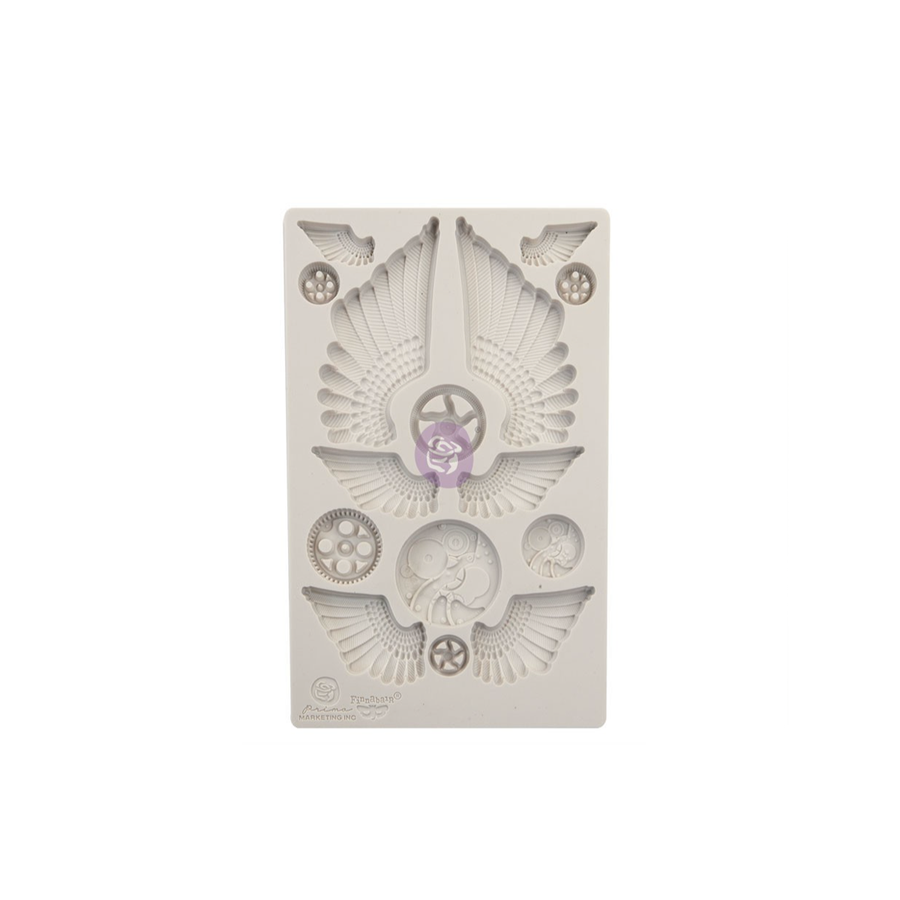 Finnabair Mould by Prima - Cogs & Wings 5x8""
