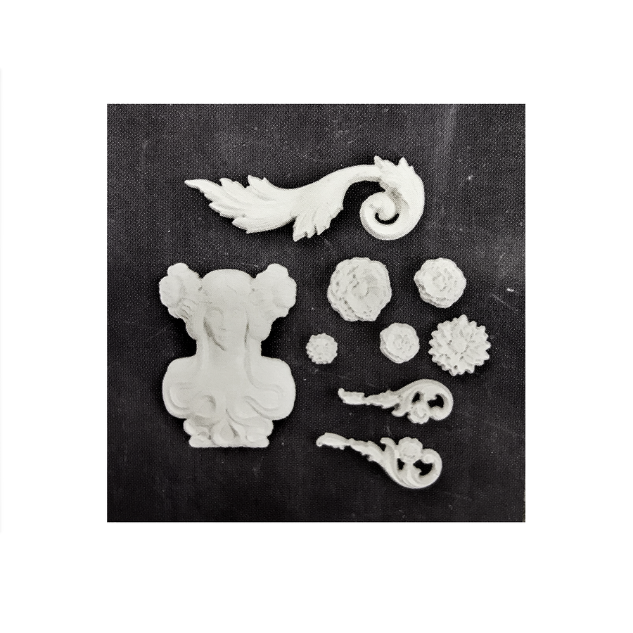 Example items moulded with Imaginarium Fairy Garden mould
