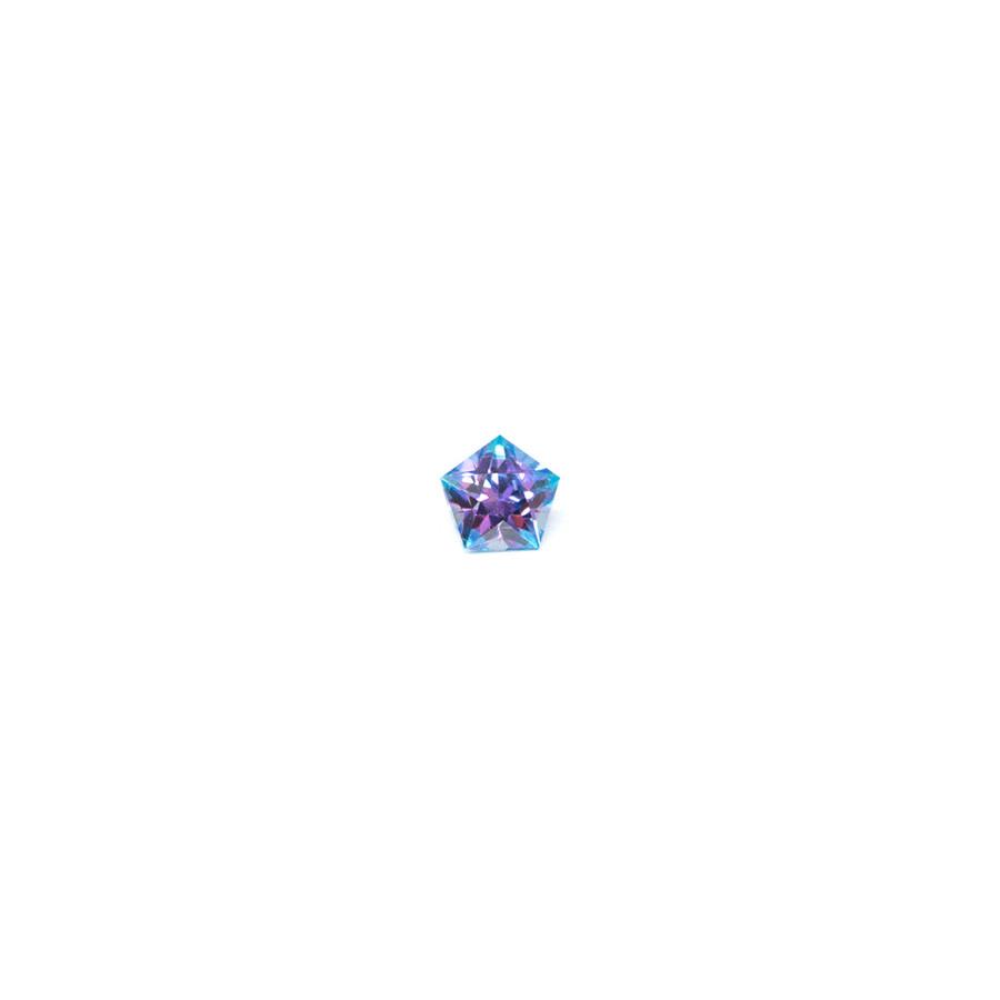 Synthetic Stone Purple & Aqua Blue