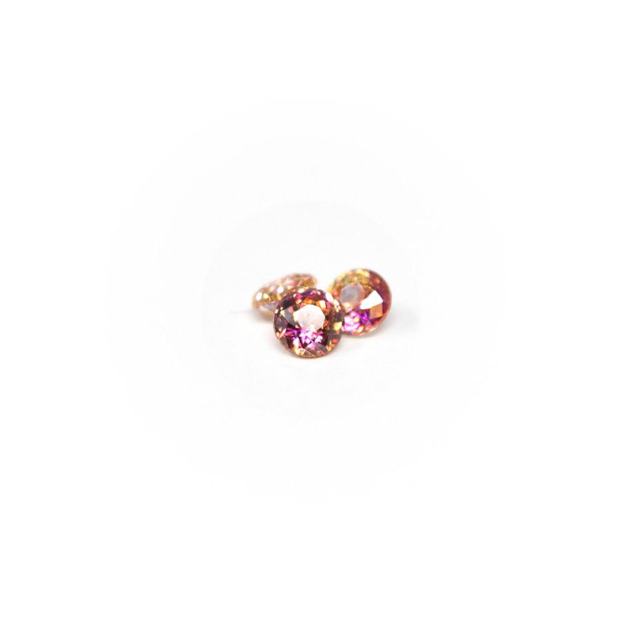 Limited Edition! Bicolour Stones - Rose Round 5mm (Red/Orange) 3pcs