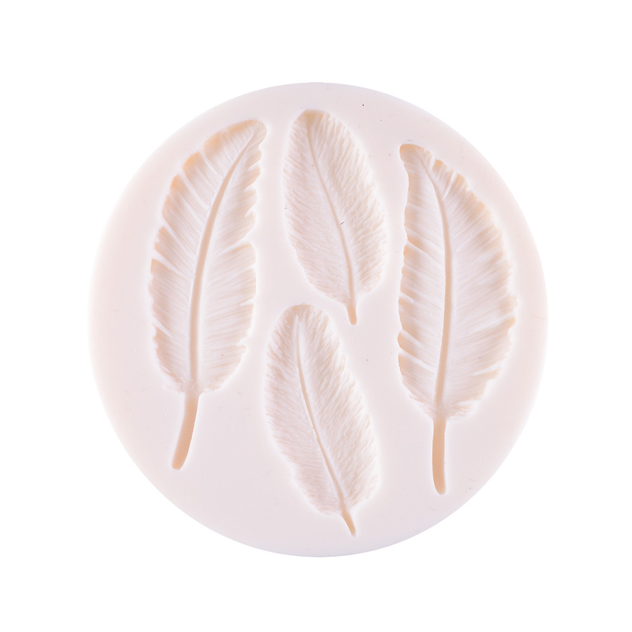 Silicone Mould - Feather 4 kinds