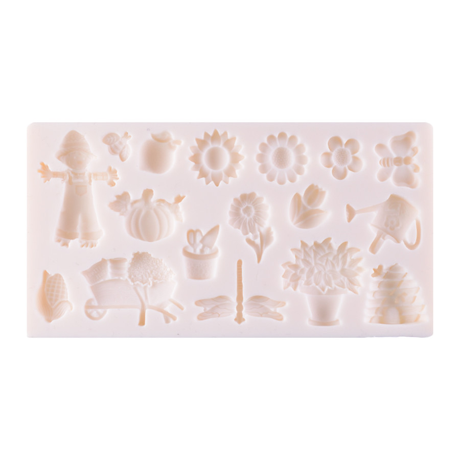Silicone Mould - Garden Motifs 17 Kinds