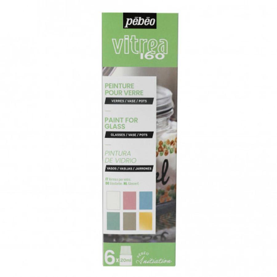 Pebeo Vitrea 160 Initiation - Colour Set of 6 - 20ml