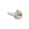 Sterling Silver Flower Prong - VIOLA - 3mm