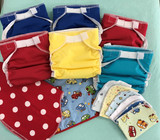 Baby Love Fitted All-in-One Cloth Diaper - 6-pack - Bright Colors