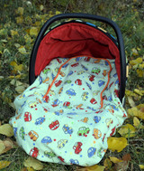 Peek-a-Boo Infant Car Seat Cover - Car Print