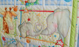 Safari Animals Baby Crib Quilt
