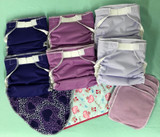 Baby Love Fitted All-in-One Cloth Diaper - 6-pack - Purple