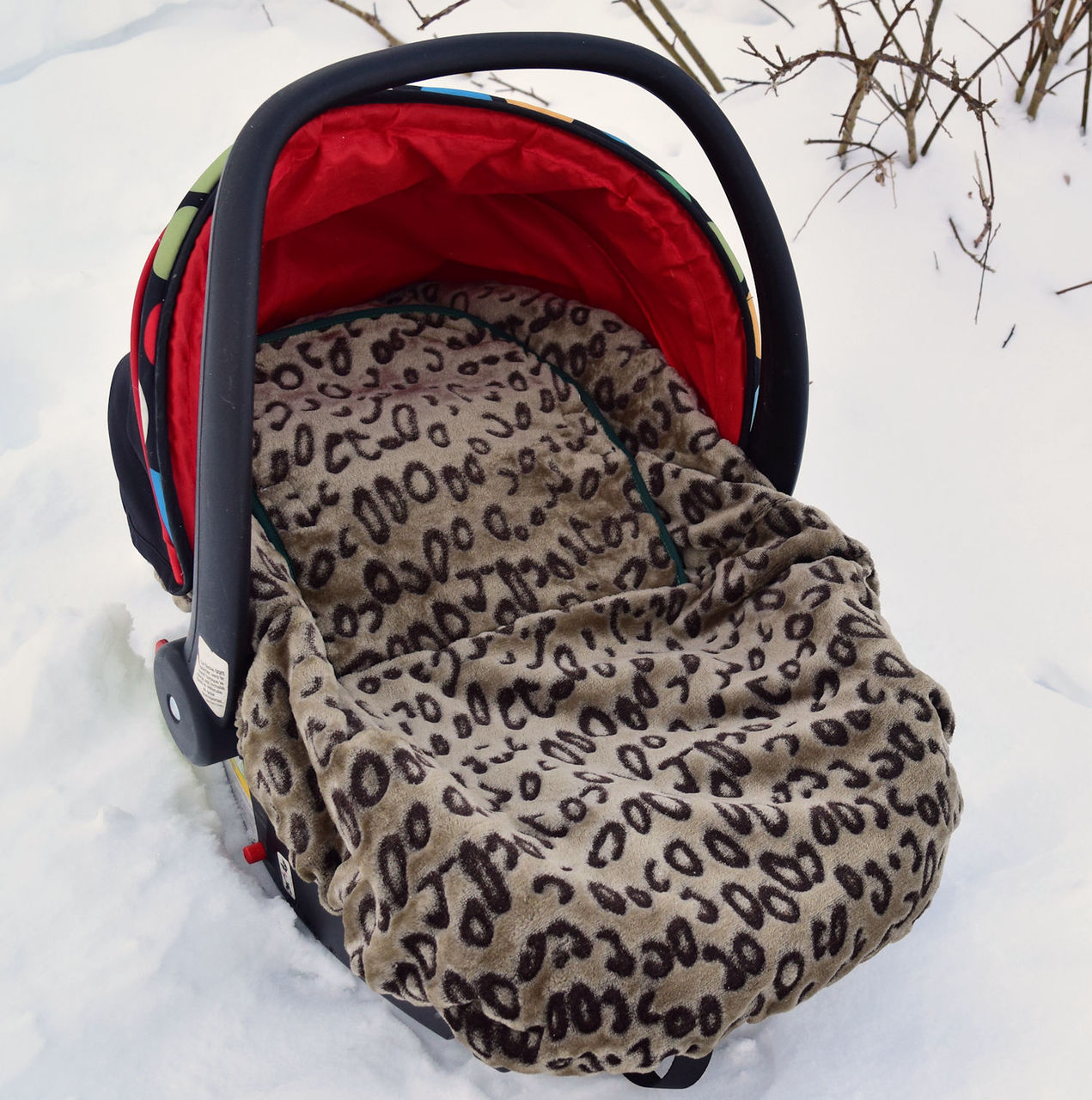 Excellent Peek A Boo Infant Car Seat Cover Leopard Print Andrewgaddart Wooden Chair Designs For Living Room Andrewgaddartcom