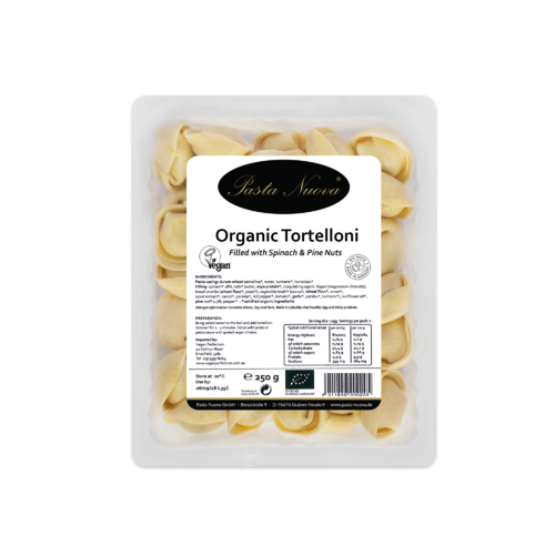 Organic tortelloni with spinach and pine nut (only available to customers in VIC)