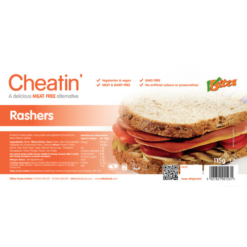 V-bites streaky bacon-style rashers (only available to customers in VIC)