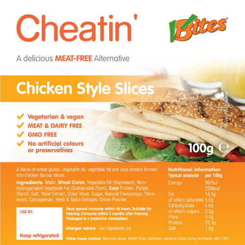 V-bites chicken style slices (only available to customers in VIC)