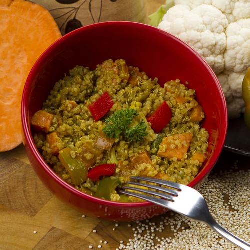 Spicy Sweet Potato & Quinoa Salad