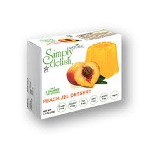 vegan peach jel dessert
