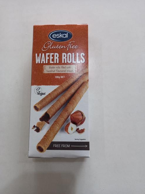 Eskal Gluten free wafer roll Hazelnut