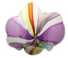 Colorful Hand Blown Art Glass Floppy Bowl