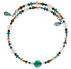Choker necklace with emerald green crystal center