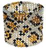 Leopard print crystal cuff bracelet