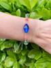 Sterling Silver Slider Bracelet featuring Vintage Swarovski Crystals & Semi Precious Stones - Aruba
