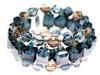 Blue Swarovski crystal cuff bracelet - Karen Curtis jewelry collections