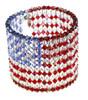 Swarovski crystal American Flag Cuff Bracelet. Karen Curtis NYC