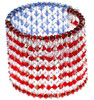 Red white and blue Cuff bracelet with crystal by Karen Curtis NYC
