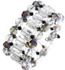 Designer crystal cuff bracelet from the Deco jewelry collection by Karen Curtis NYC