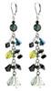 Green and Black Crystal Earrings