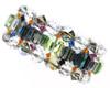 Super colorful cuff bracelet made with rare swarovski crystal
