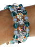 Colorful Crystal cuff bracelet by the Karen Curtis jewelry company