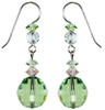 Green Crystal Peridot Earrings - August Birthstone