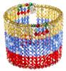 Jewelry made with Swarovski Crystal. Flag of Venezuela Cuff Bracelet.
