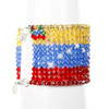 Bracelet with Venezuela Flag Pattern. Sparkling Jewelry with Crystal and Sterling Silver
