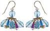 Blue Crystal Cluster Earrings - March Birthstone