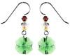 Crystal Green Shamrock Earrings - Botanical